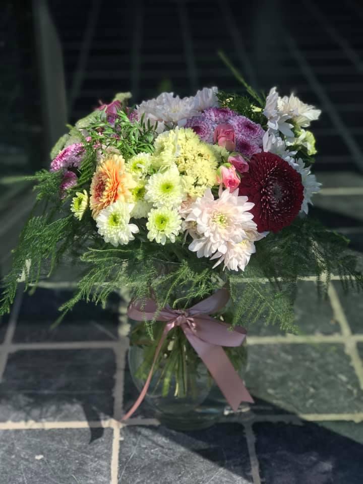 Voorbeeld van één van de bloemstukken gemaakt door Ateljee Julie